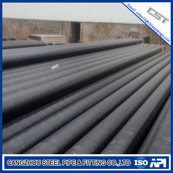 Sch20 ASTM A53 A106 Gr.B SSAW Steel Pipe