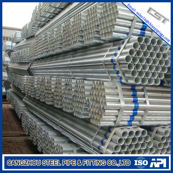 ASTM A53 A312 TP304L Sch20 21.3mm Galvanized Pipe