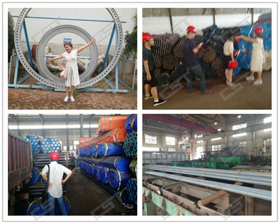 Indonesia customers visit seamless steel pipe mill