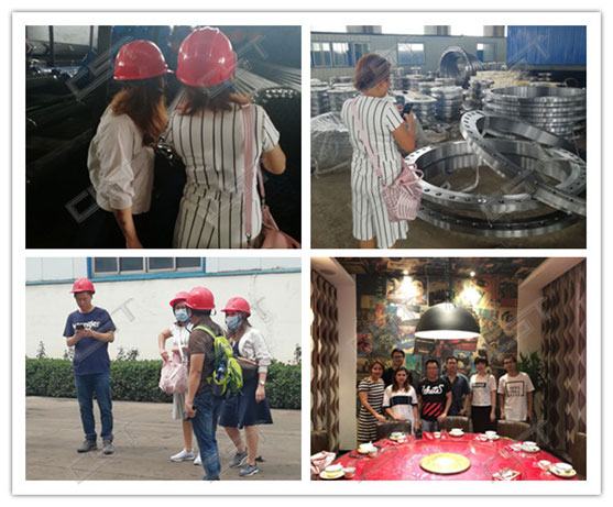 Indonesia customers visit flange factory