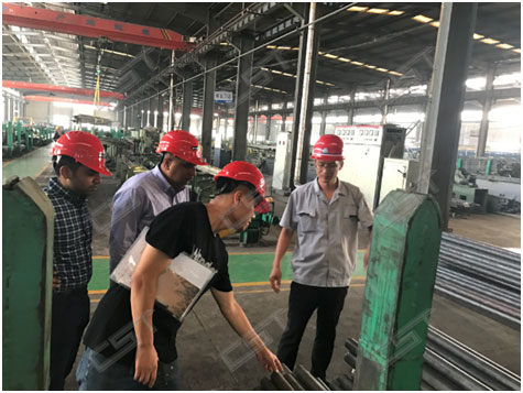 Indian customers visit alloy steel pipe mill